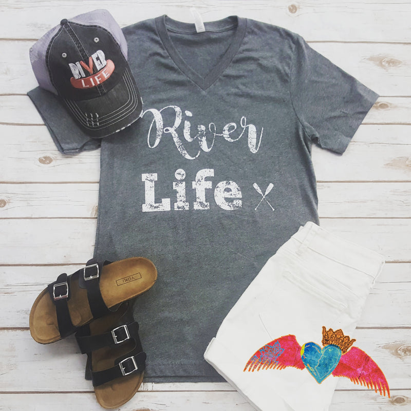 River Life V-Neck - Bless UR Heart Boutique