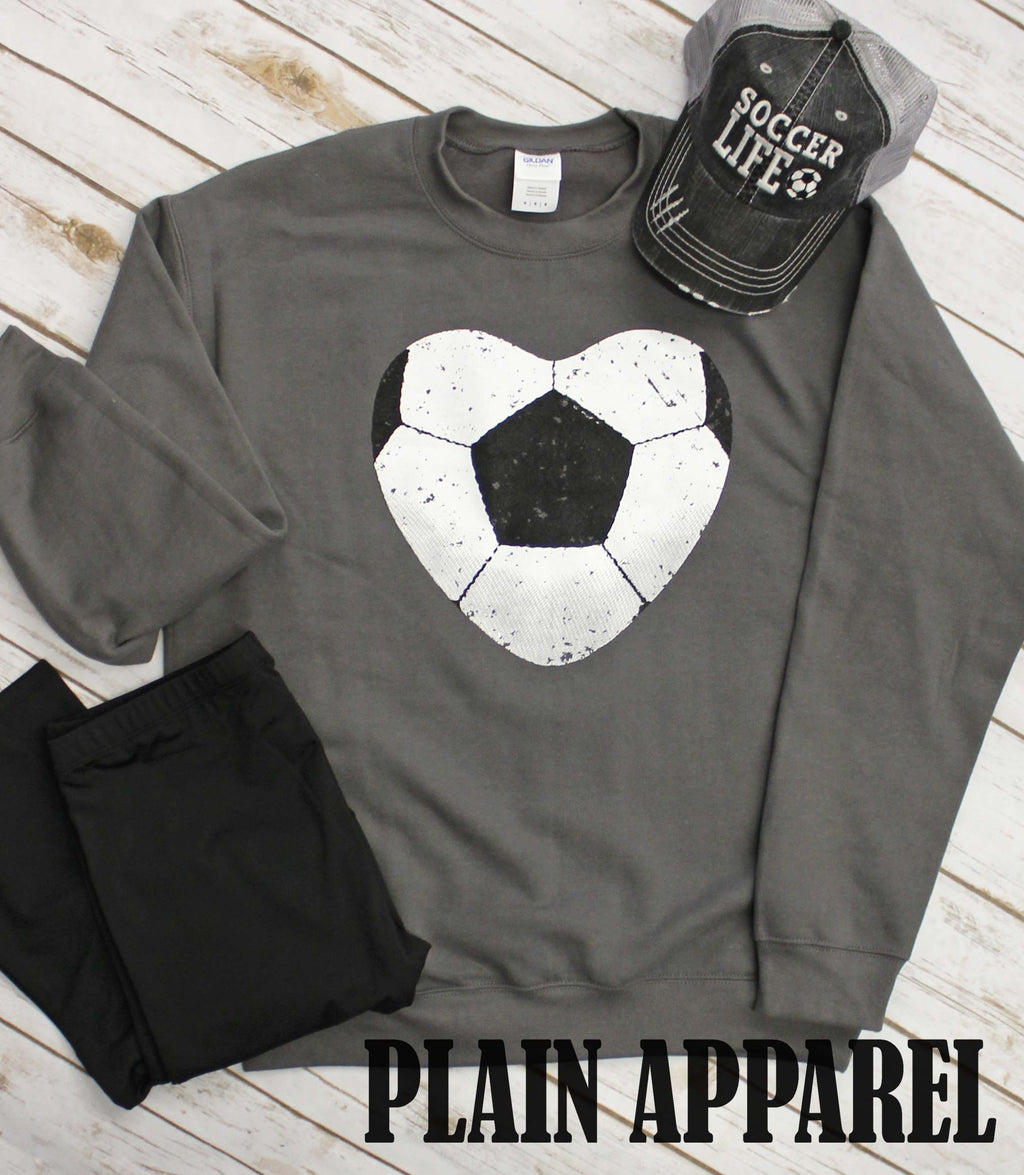 Soccer Heart Sweatshirt - Bless UR Heart Boutique