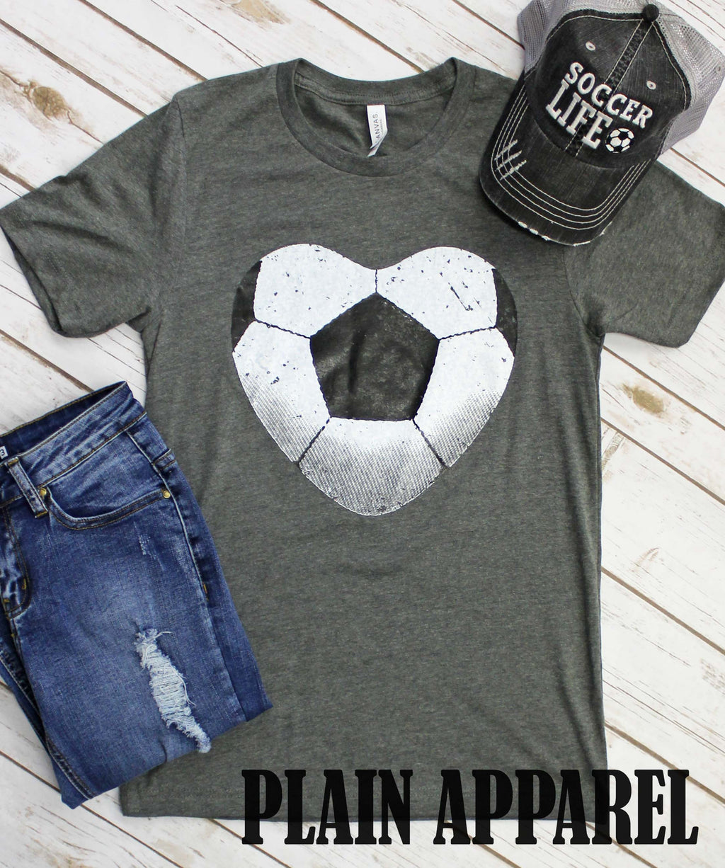 Soccer Heart Crew Tee - Bless UR Heart Boutique
