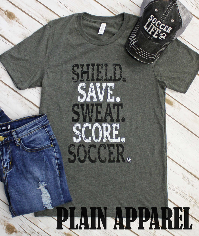 Soccer- Shield Save Score - Bless UR Heart Boutique