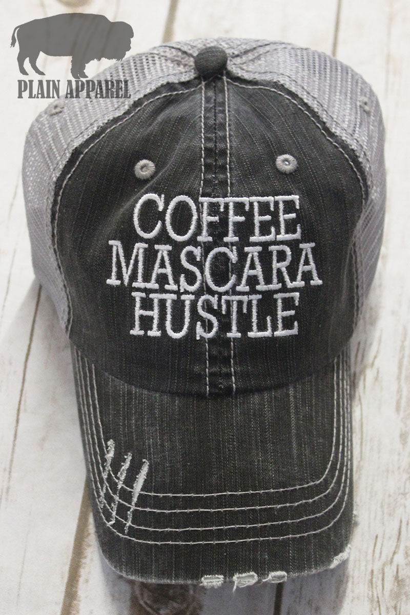 Coffee Mascara Hustle Ball Cap - Bless UR Heart Boutique