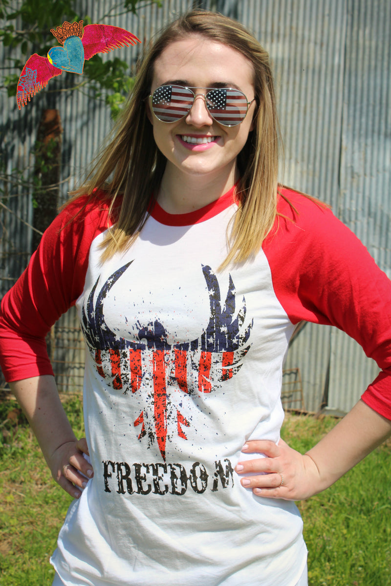 Freedom Red Raglan