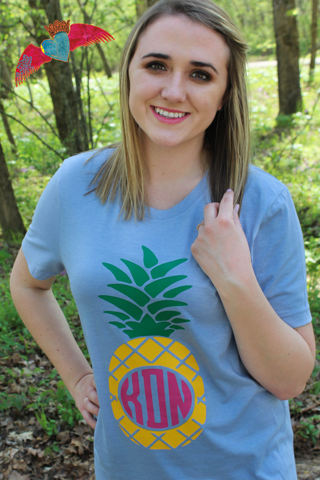 Pineapple Monogram Crew Neck - Bless UR Heart Boutique
