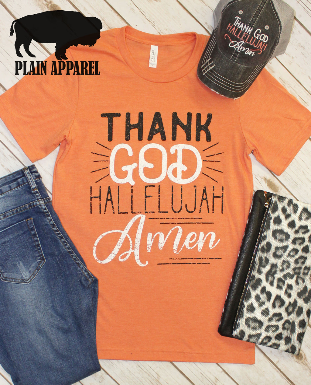 Thank God Hallelujah Amen Crew Neck Tee