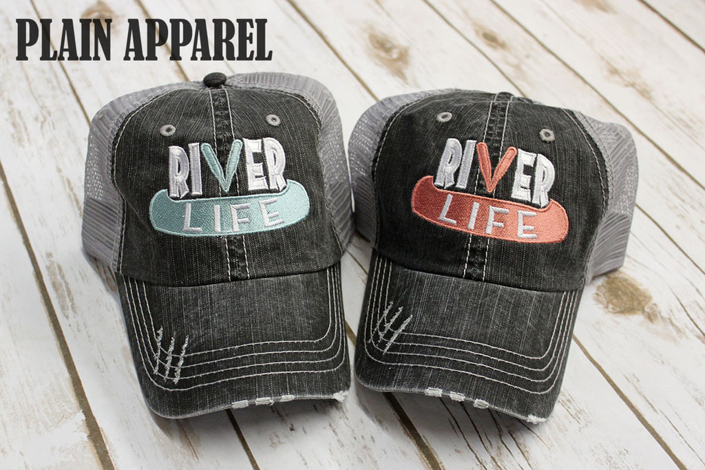 River Life Ball Caps: 2 Color Options - Bless UR Heart Boutique