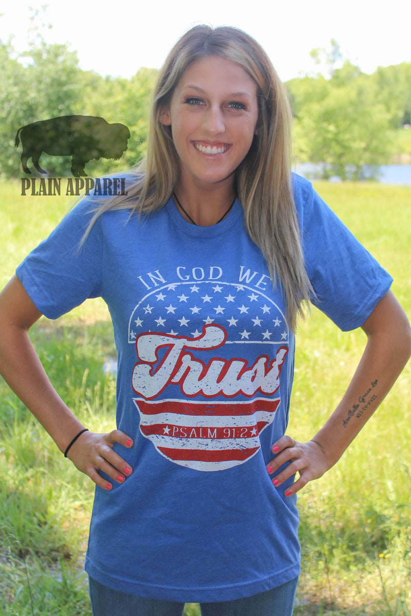In God We Trust Crew Tee - Bless UR Heart Boutique