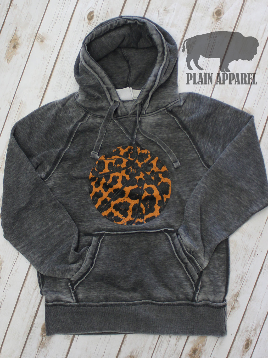 Basketball Leopard Hoodie - Bless UR Heart Boutique