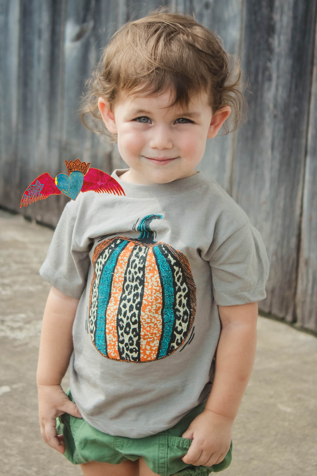 KID Patchwork Pumpkin Tee