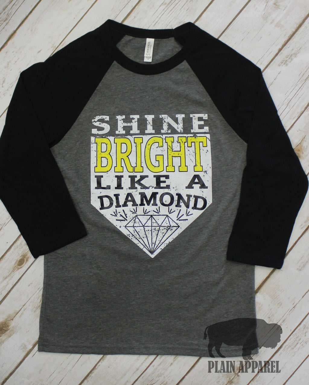 Shine Bright Diamond Raglan - Bless UR Heart Boutique
