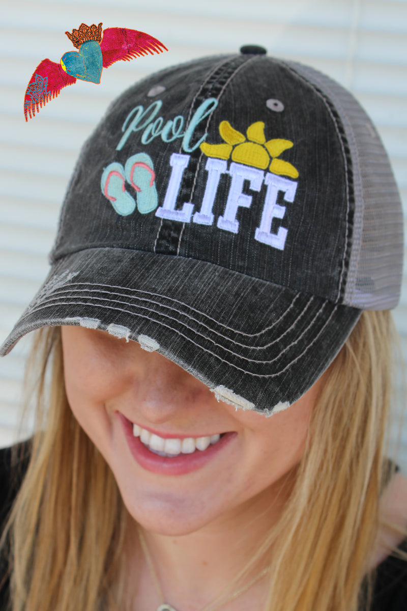 Pool Life Ball Cap - Bless UR Heart Boutique