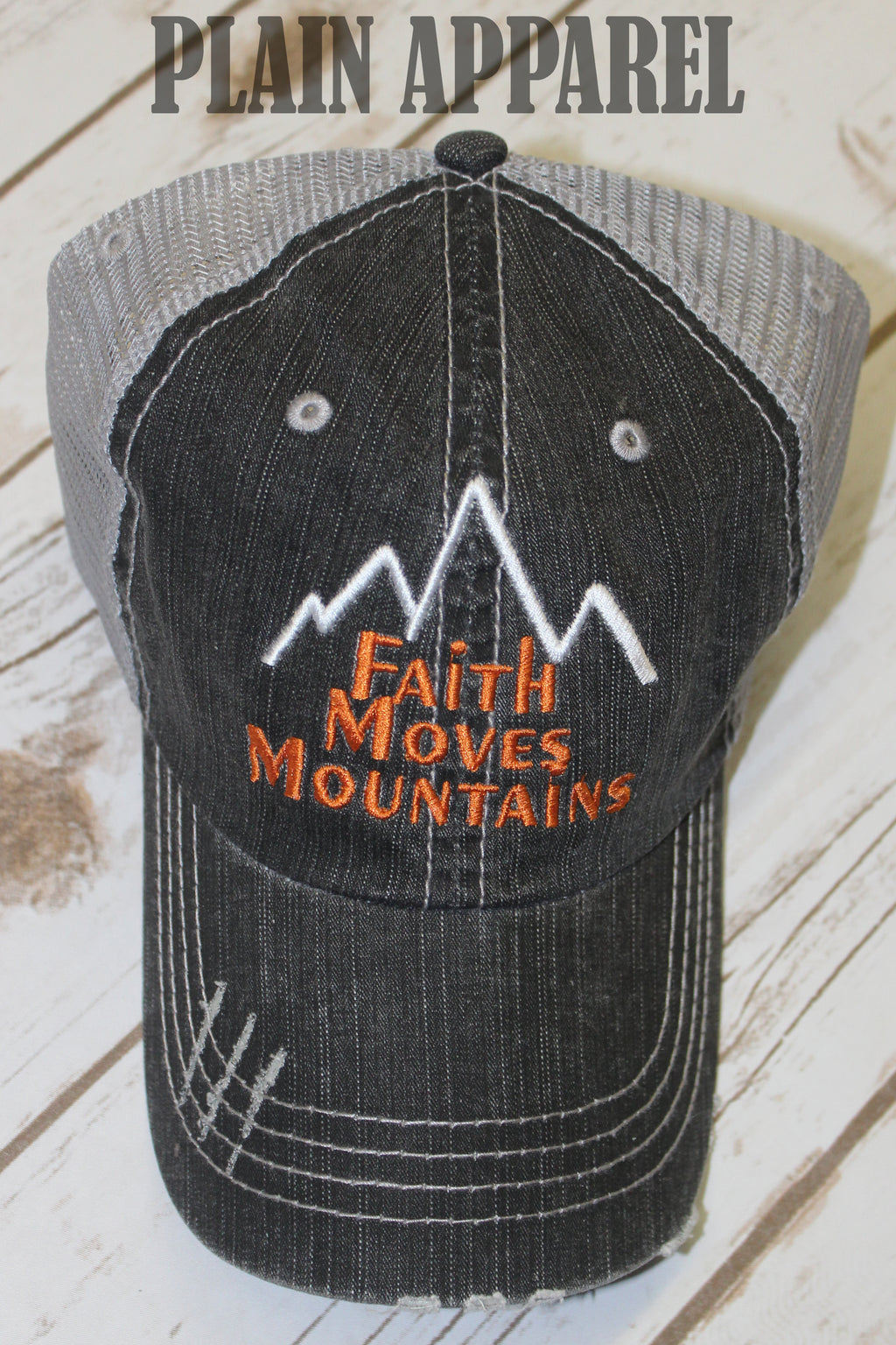 Faith Moves Mountains Ball Cap