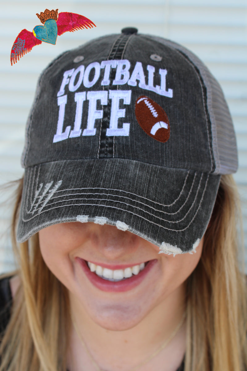 Football Life Cap - Bless UR Heart Boutique