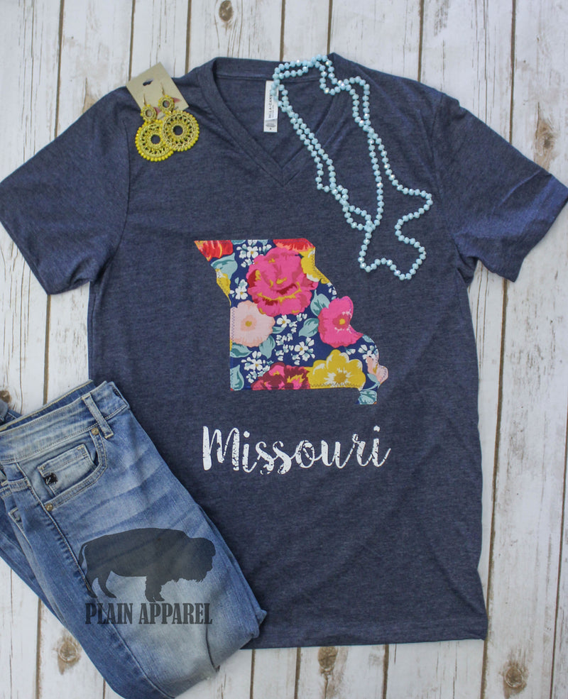 Summer Flower Garden Applique Tee - Bless UR Heart Boutique