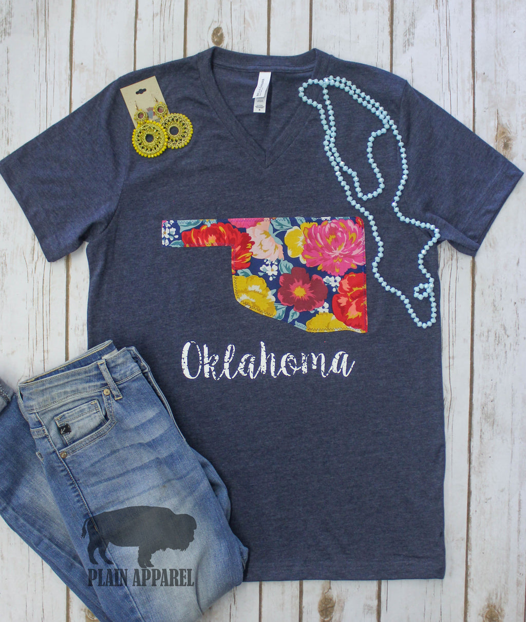 Summer Flower Garden Applique Tee