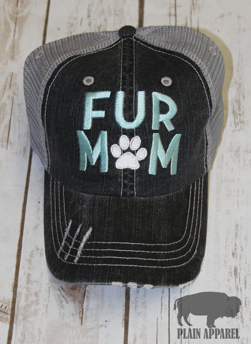 Fur Mom Ball Cap - Bless UR Heart Boutique