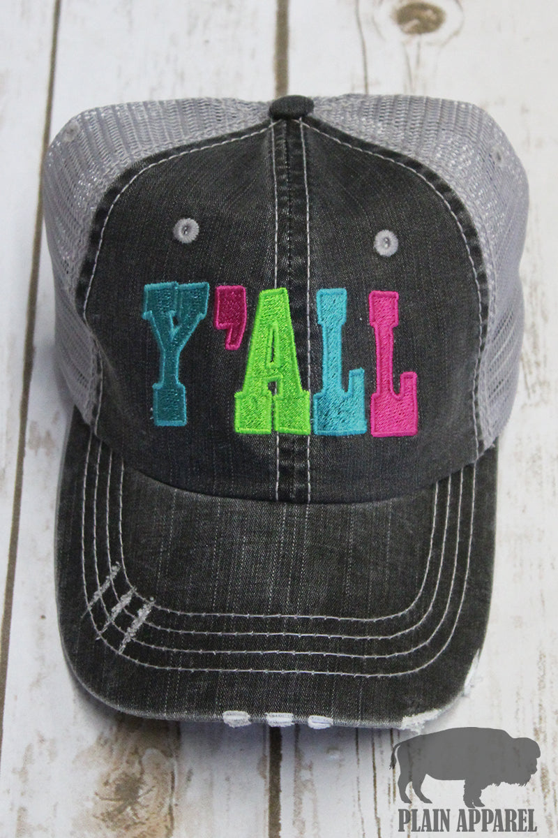Y'all Ball Cap - Bless UR Heart Boutique