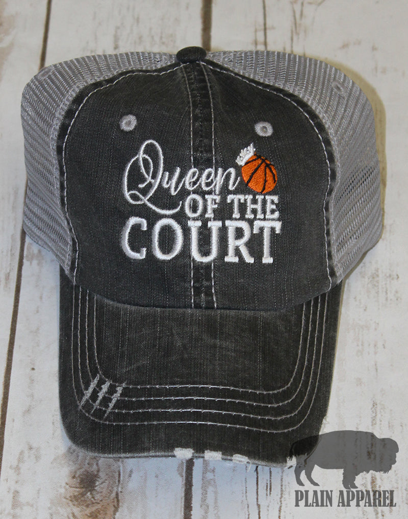 Basketball Queen Of Court Ball Cap - Bless UR Heart Boutique