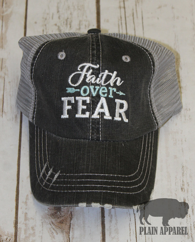 Faith Over Fear Ball Cap - Bless UR Heart Boutique