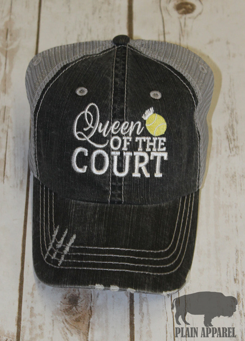 Tennis Queen Of Court Ball Cap - Bless UR Heart Boutique