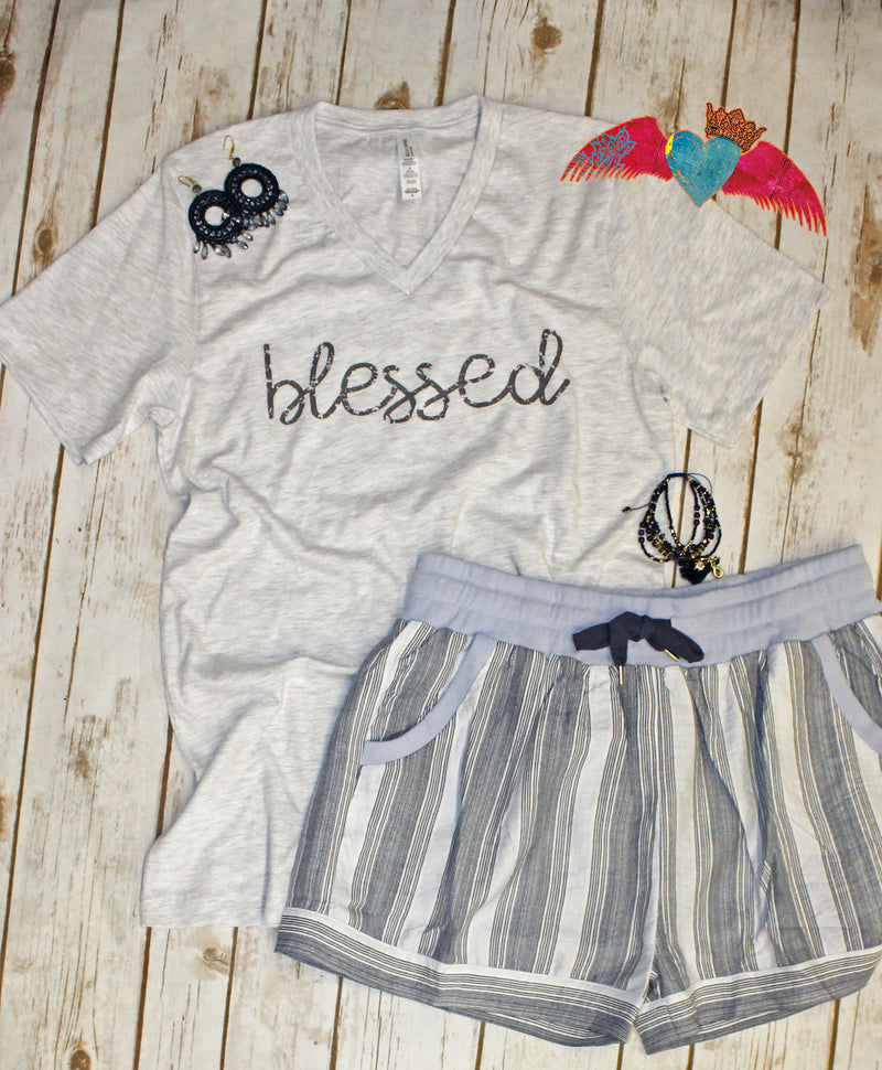 Blessed V-Neck - Bless UR Heart Boutique