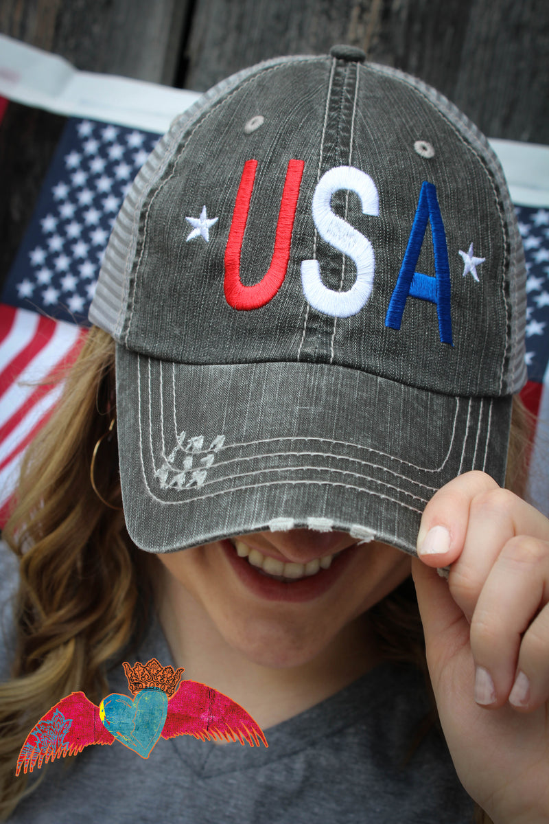 U.S.A Cap - Bless UR Heart Boutique