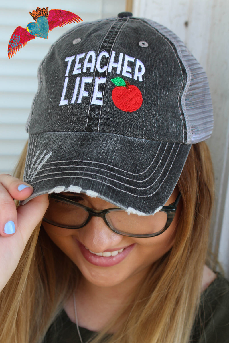 Teacher Life Ball Cap - Bless UR Heart Boutique