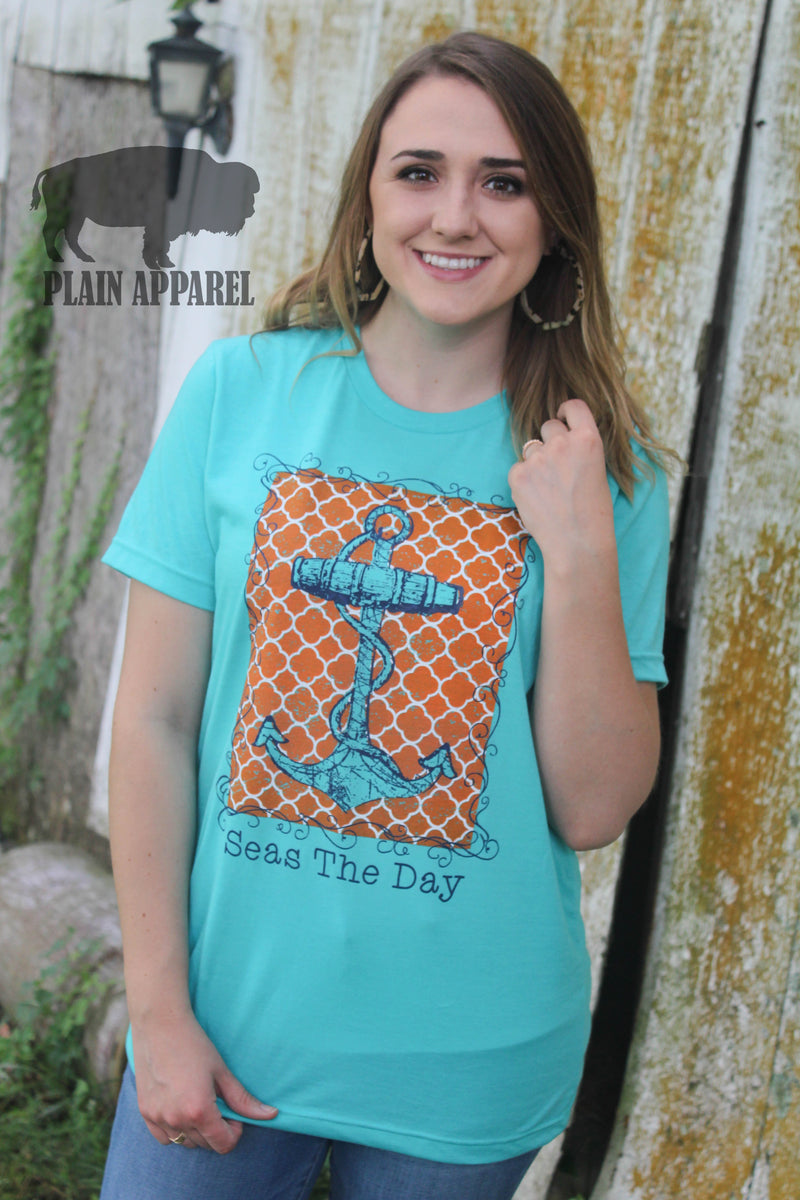 Seas The Day Anchor Tee