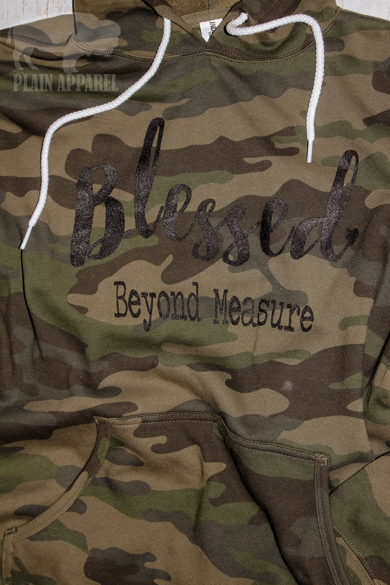 Blessed Beyond Measure Camo Hoodie - Bless UR Heart Boutique
