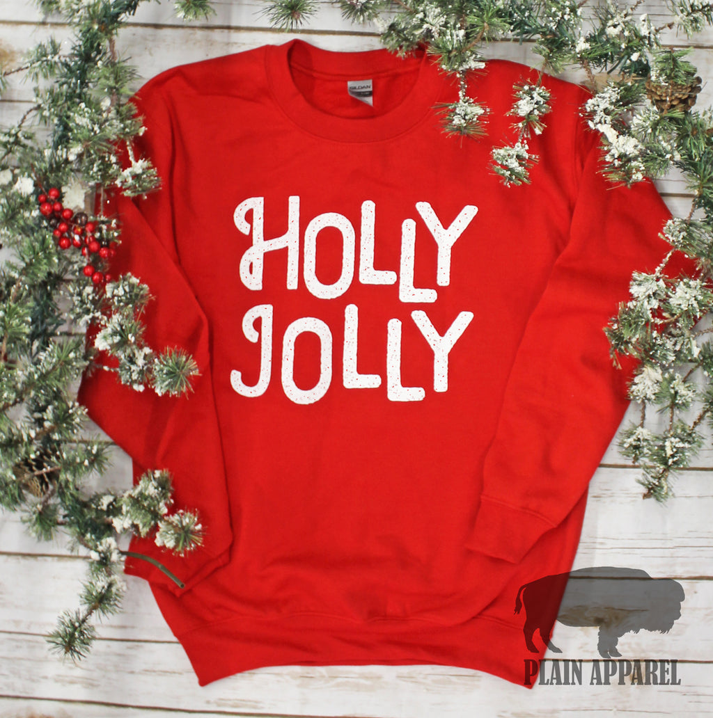 Speckled Holly Jolly Sweatshirt - Bless UR Heart Boutique