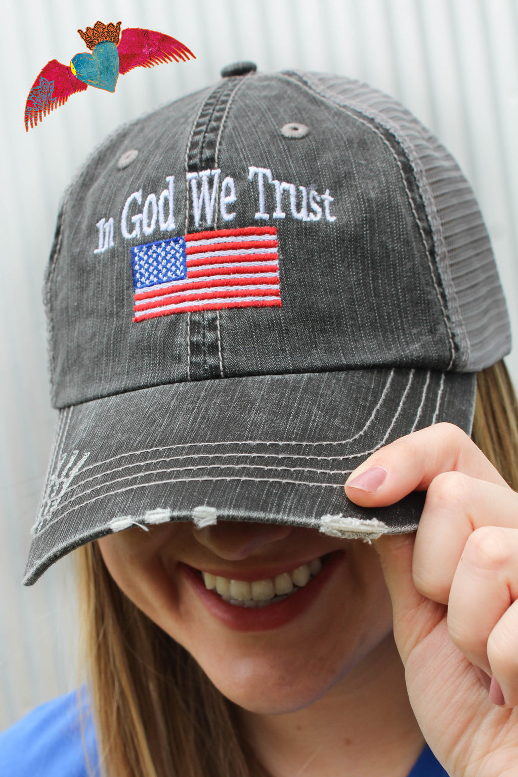 In God We Trust Ball Cap - Bless UR Heart Boutique