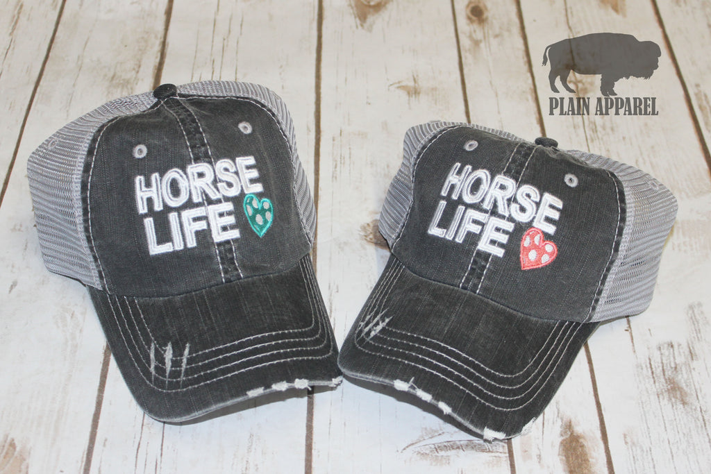Horse Life Ball Cap - Bless UR Heart Boutique