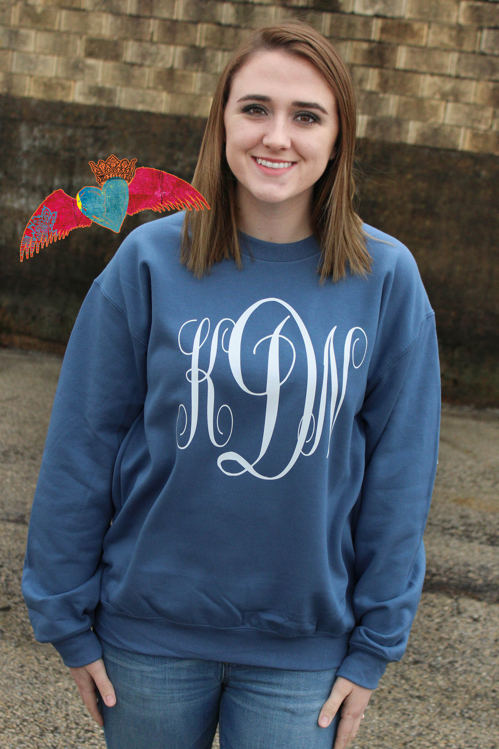 Monogram Sweatshirt 4 COLOR OPTIONS