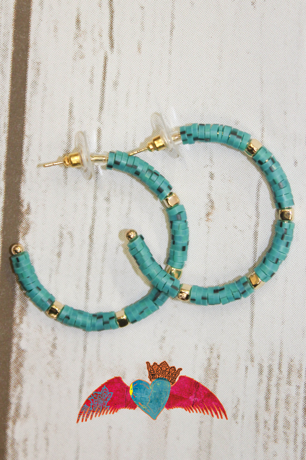 Turquoise Hoop Earrings 178