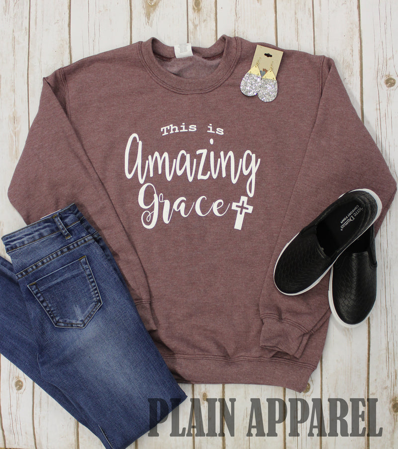 Amazing Grace Mauve Sweatshirt