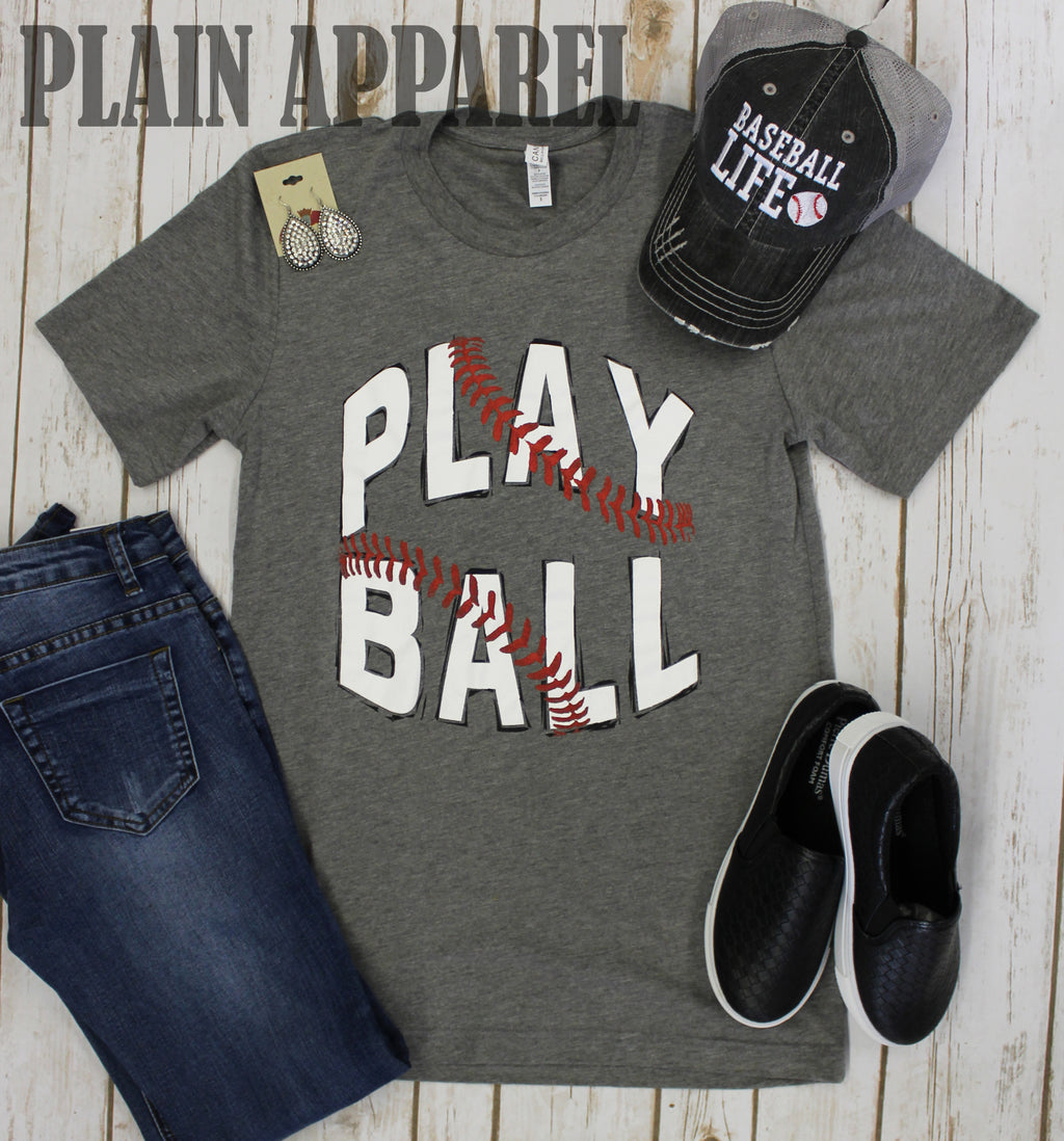 "Baseball ""Play Ball!"" Crew Neck Tee"