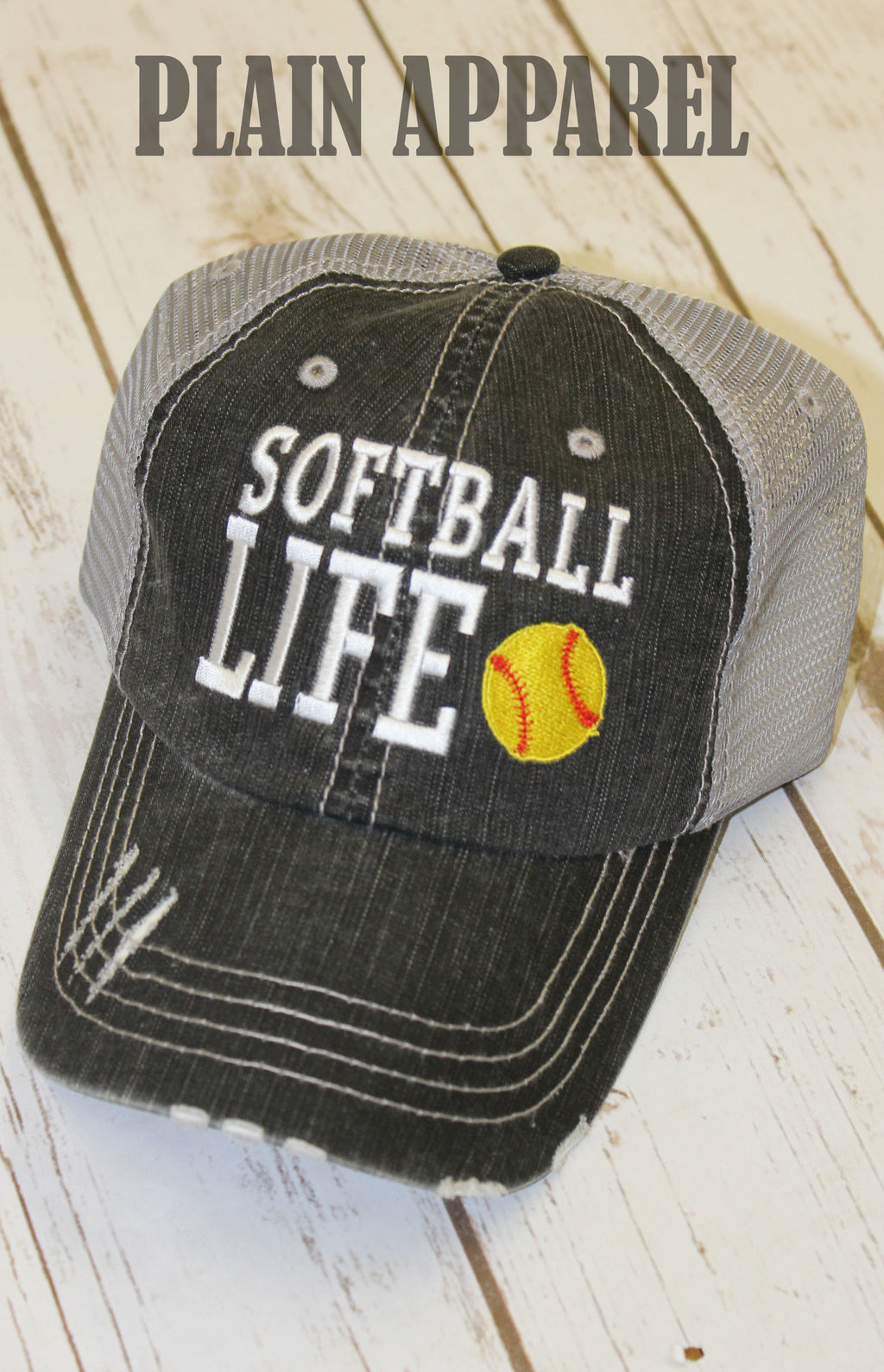 Softball Life Ball Cap - Bless UR Heart Boutique