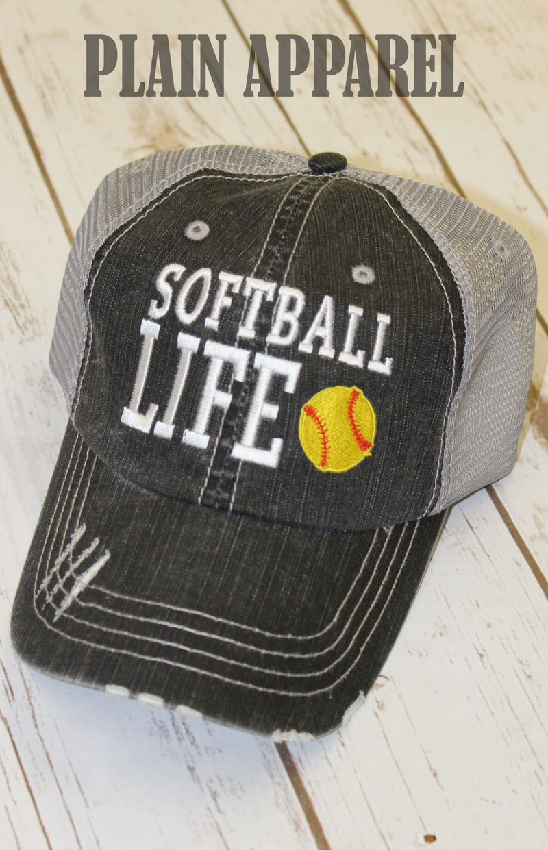 Softball Life Ball Cap