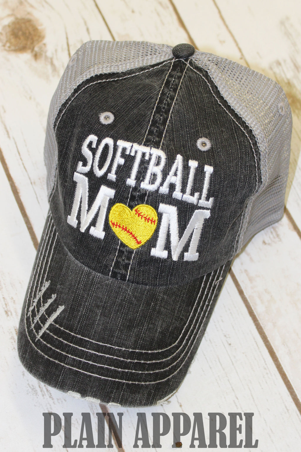 Softball Mom Ball Cap - Bless UR Heart Boutique