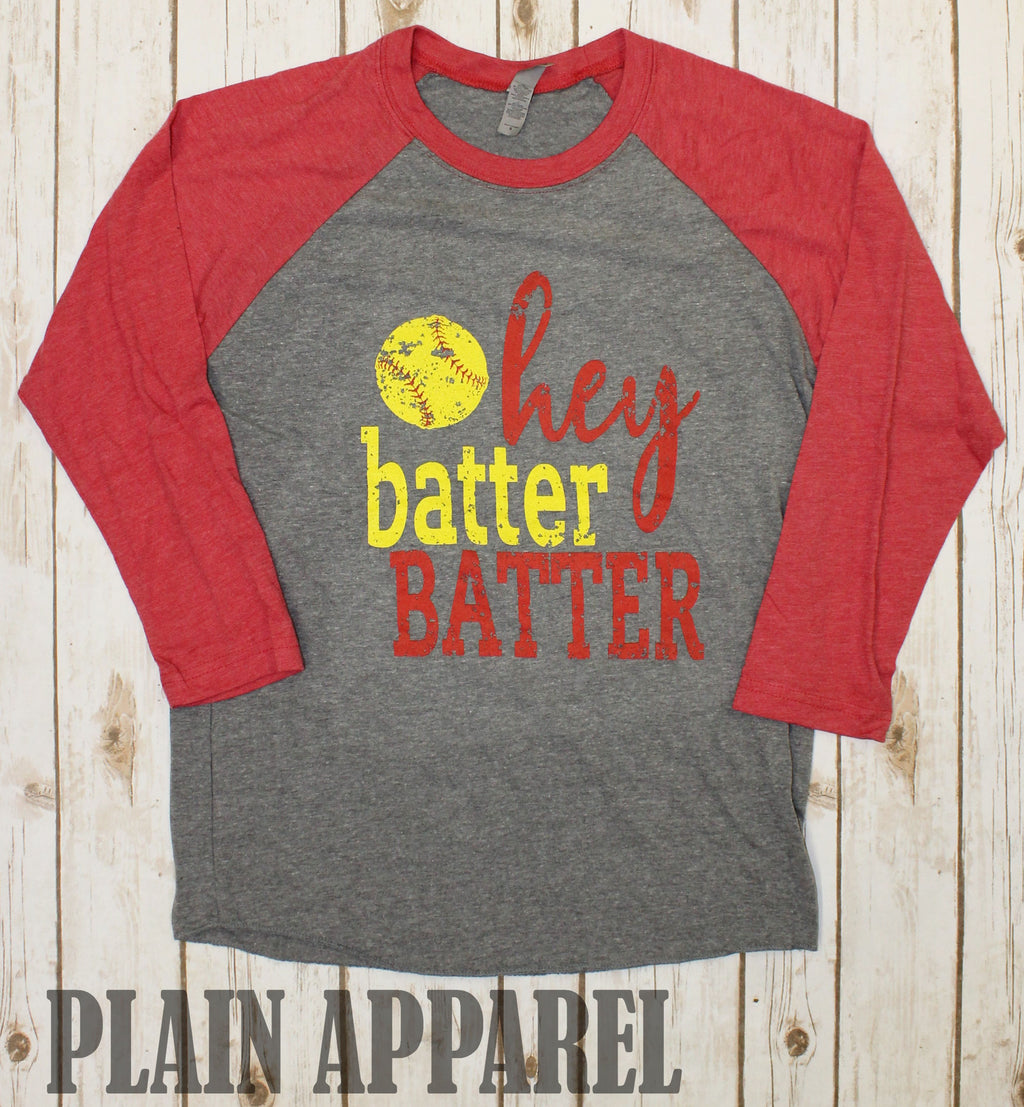 Softball Batter Batter Raglan - Bless UR Heart Boutique