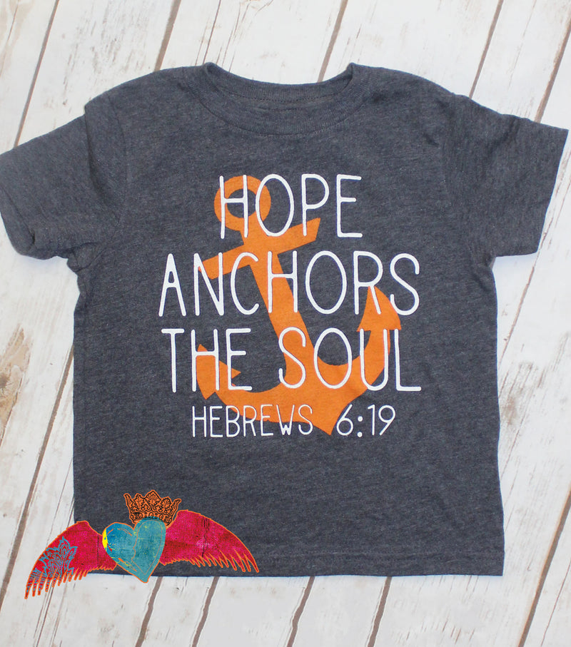KID Hope Anchors The Soul Crew Neck Tee - Bless UR Heart Boutique