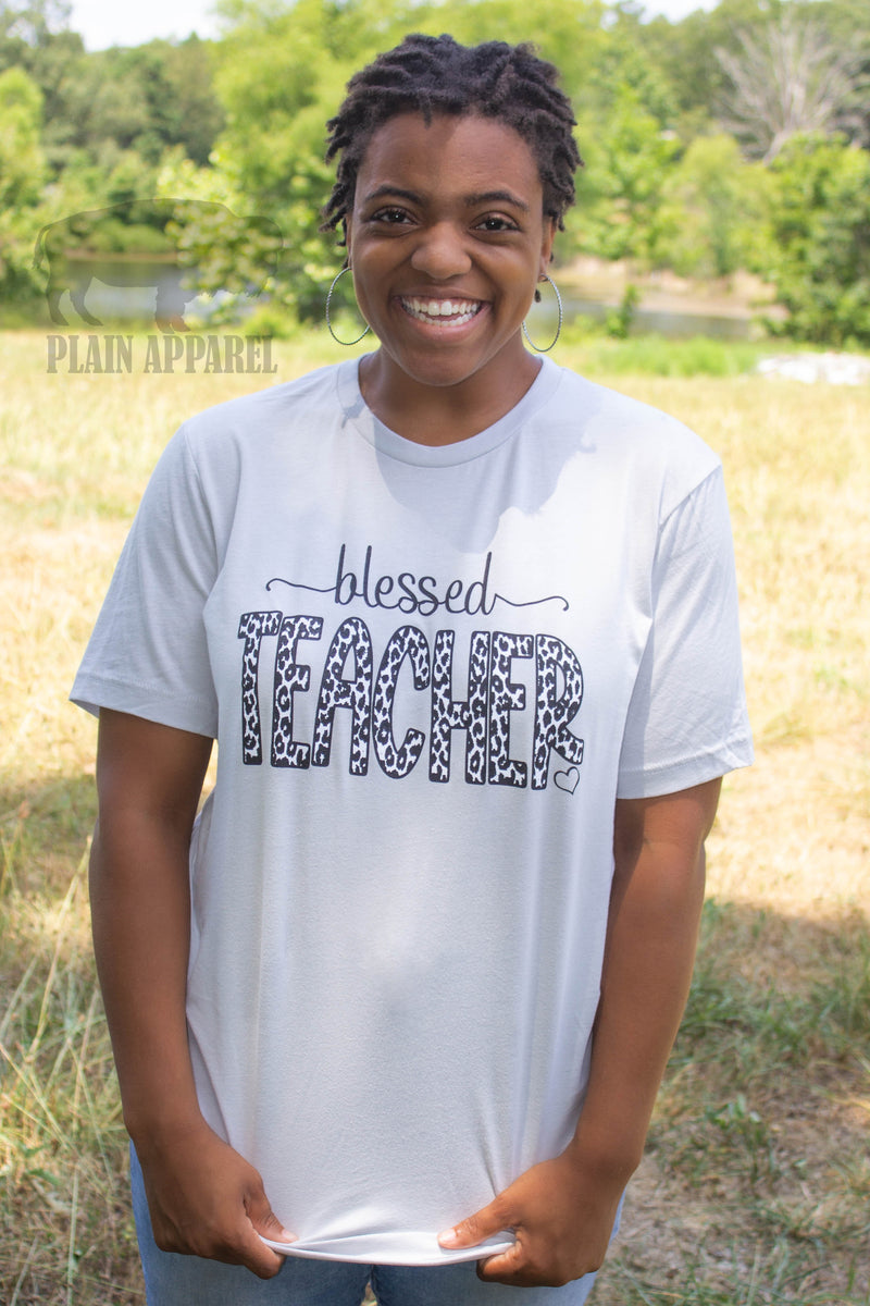Blessed Teacher Crew Neck Tee - Bless UR Heart Boutique