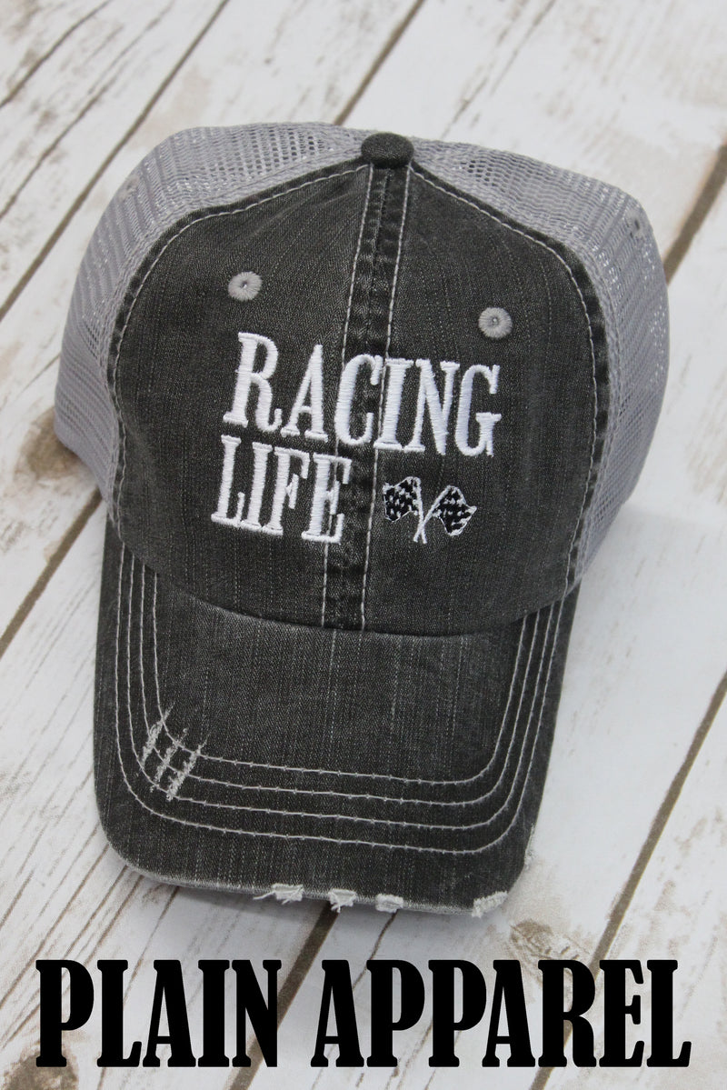 Racing Life Ball Cap - Bless UR Heart Boutique