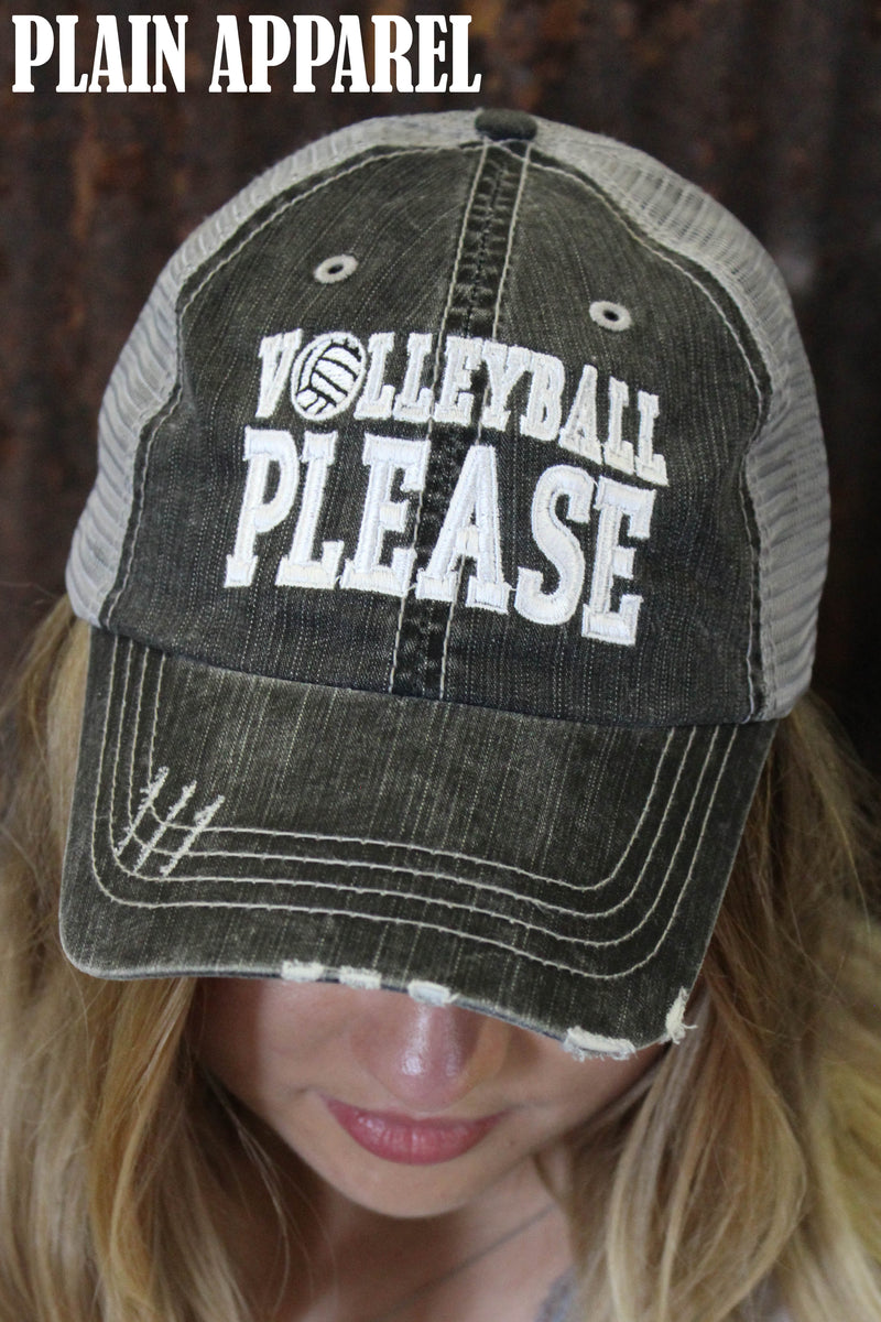 Volleyball Please Ball Cap - Bless UR Heart Boutique