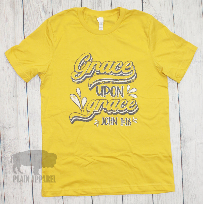 Grace Upon Grace Crew Neck Tee - Bless UR Heart Boutique