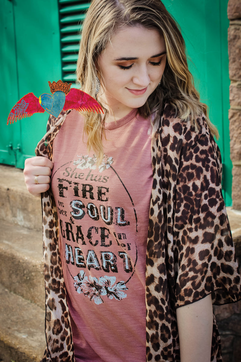 She Has Fire in Her Soul Crew Neck - Bless UR Heart Boutique