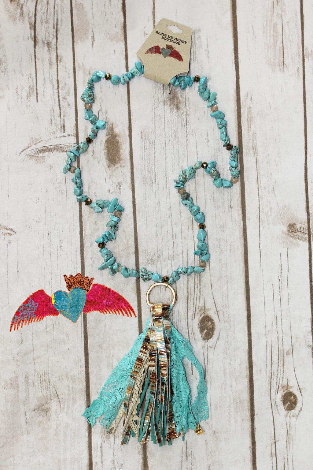 Western Expression Tassel Necklace 163