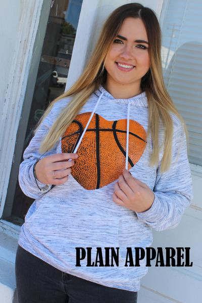 Basketball Heart HOODIE - Bless UR Heart Boutique