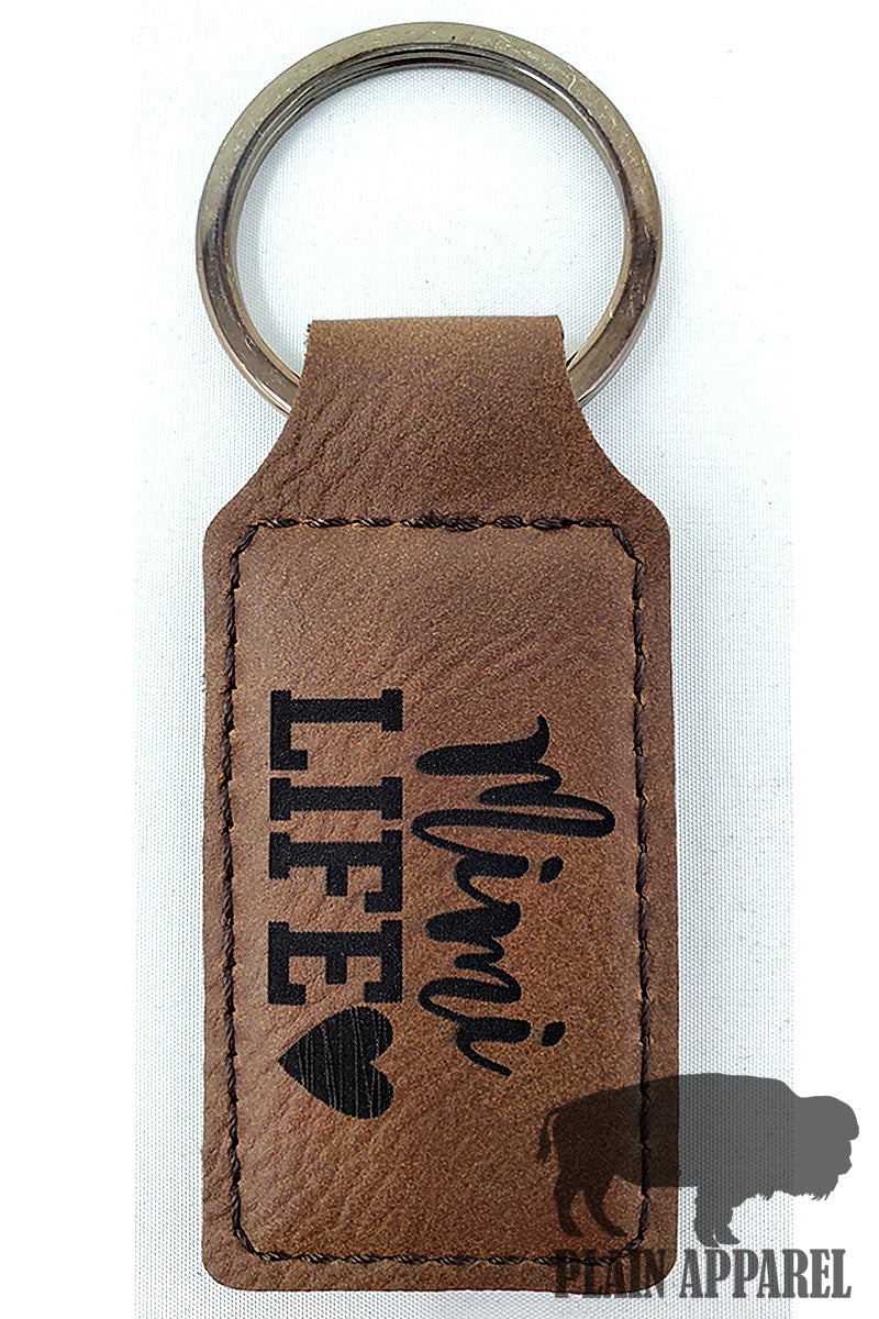 Mimi Life ( Heart ) Engraved Keychain - Bless UR Heart Boutique