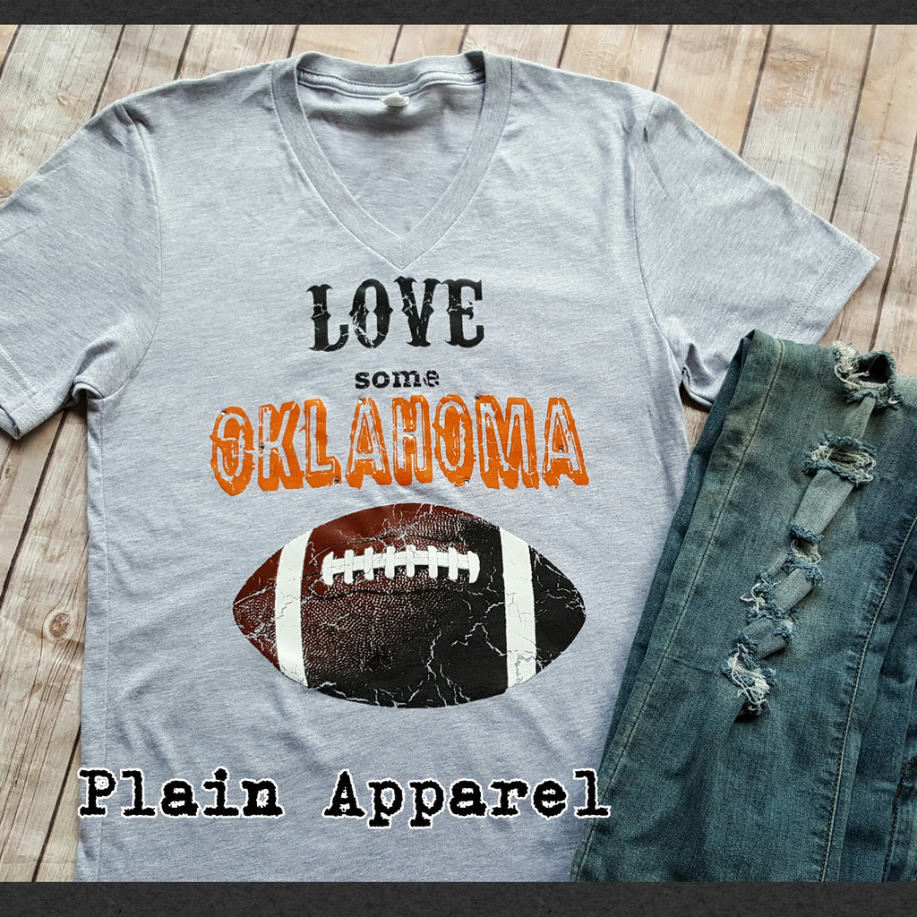 Love Some OKLAHOMA Football *ORANGE* - Bless UR Heart Boutique