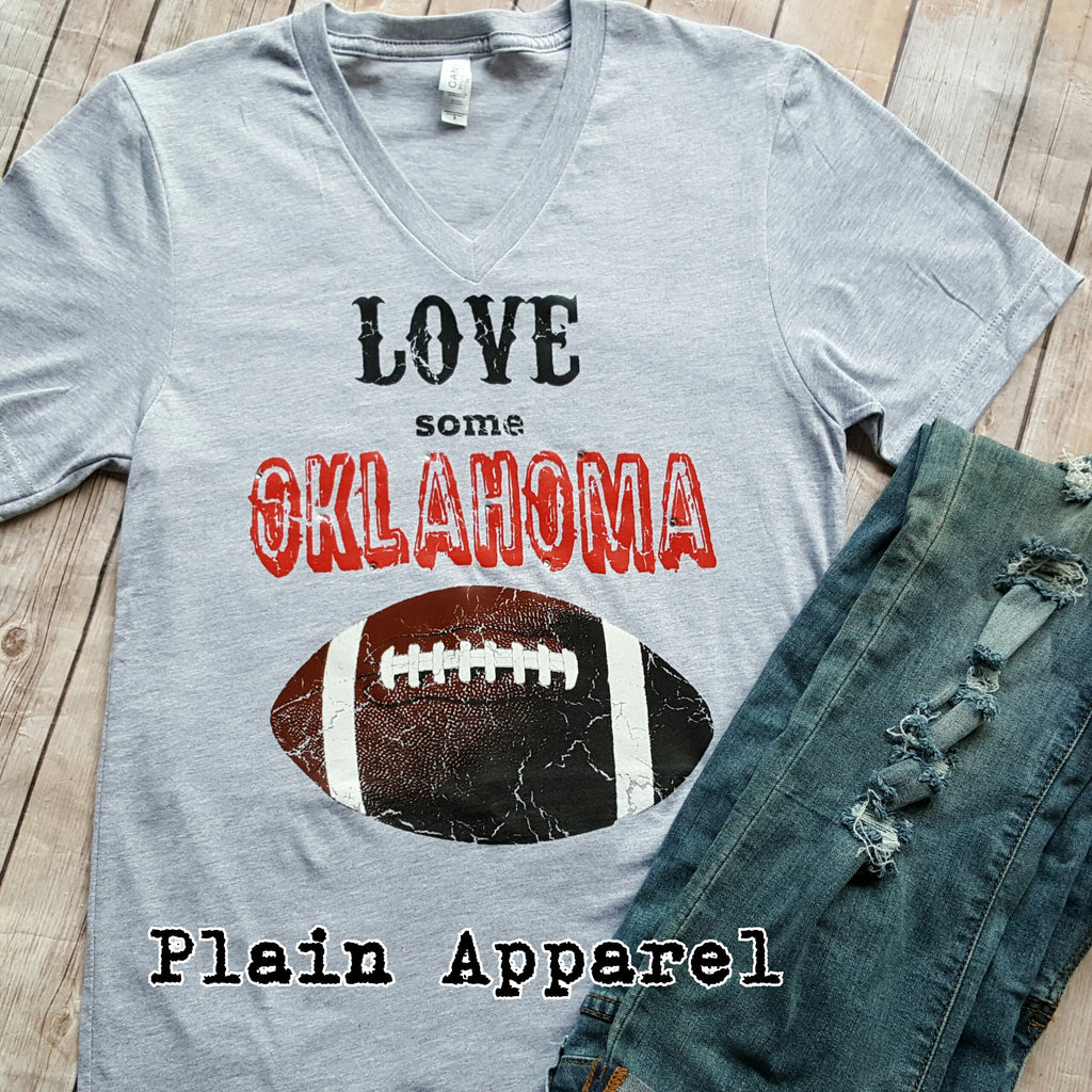 Love Some OKLAHOMA Football *RED* - Bless UR Heart Boutique